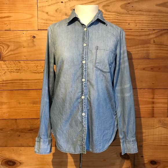 f5b26abdec9326 J. Crew Tops | J Crew Euc Denim Indigo Button Up Blouse | Poshmark